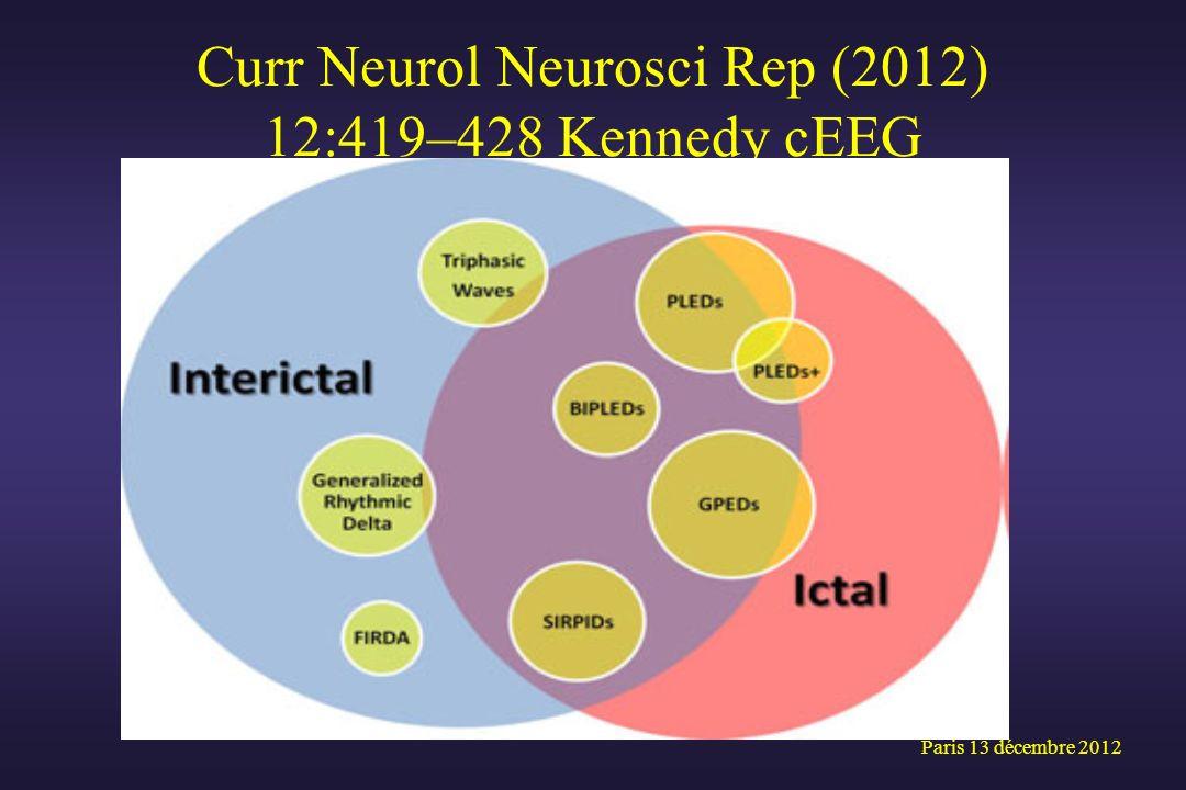 Curr Neurol Neurosci Rep (2012) 12:419–428 Kennedy cEEG