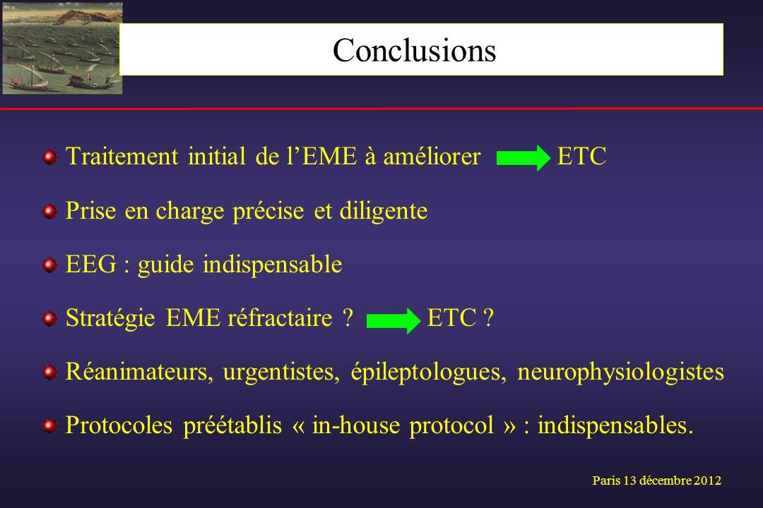 Conclusions Traitement initial de l'EME à améliorer ETC