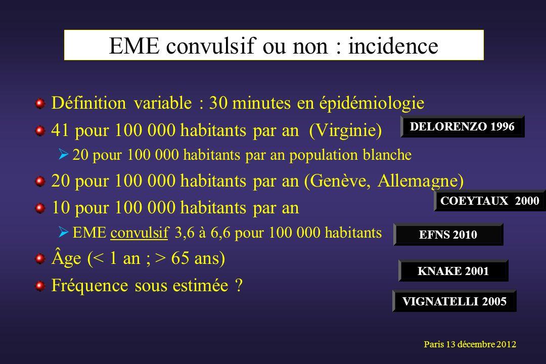 EME convulsif ou non : incidence