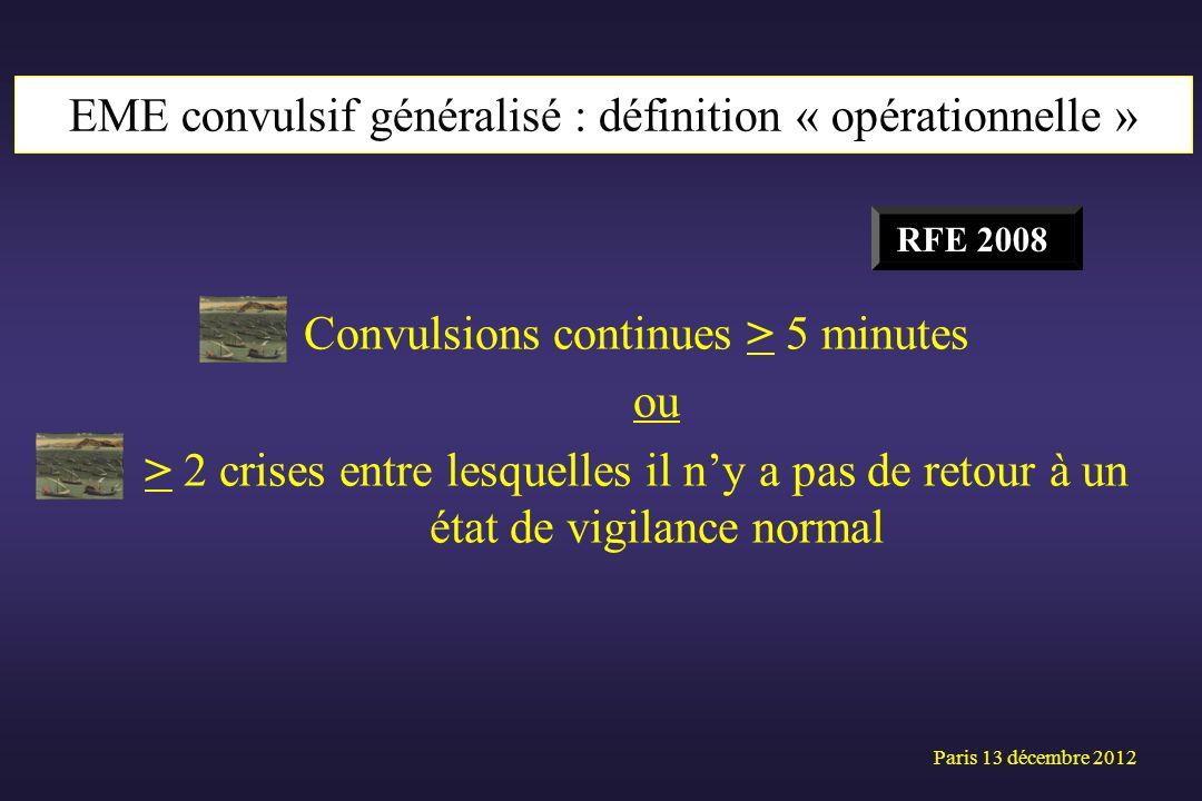 EME convulsif généralisé : définition « opérationnelle »