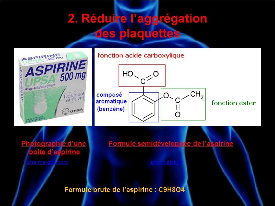 2. Réduire l'aggrégation des plaquettes