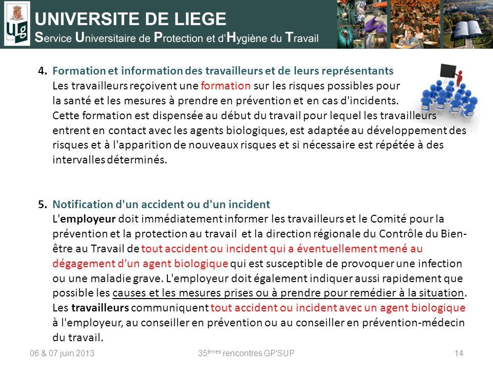 4. Formation et information des travailleurs et de leurs représentants