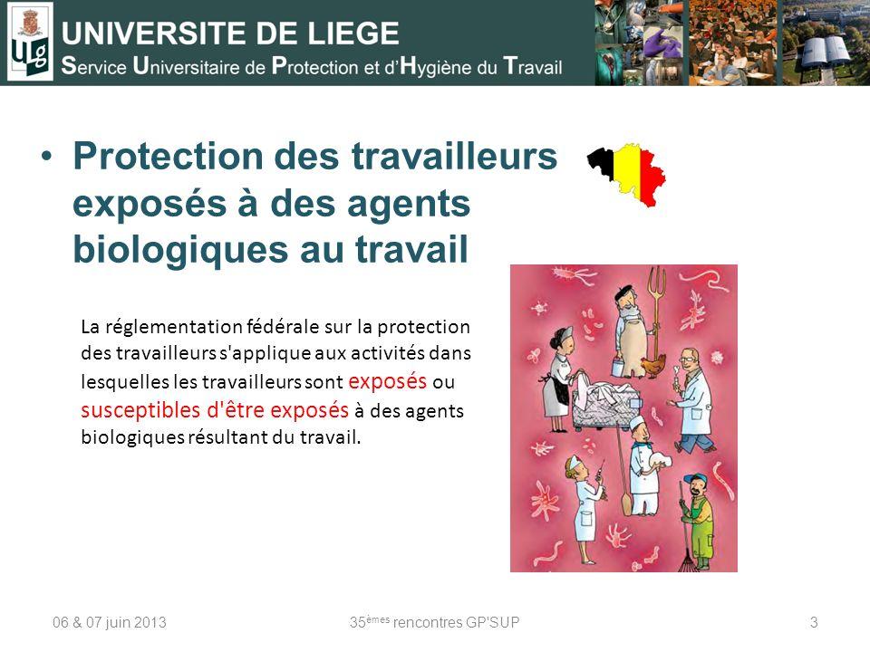 Protection des travailleurs exposés à des agents biologiques au travail