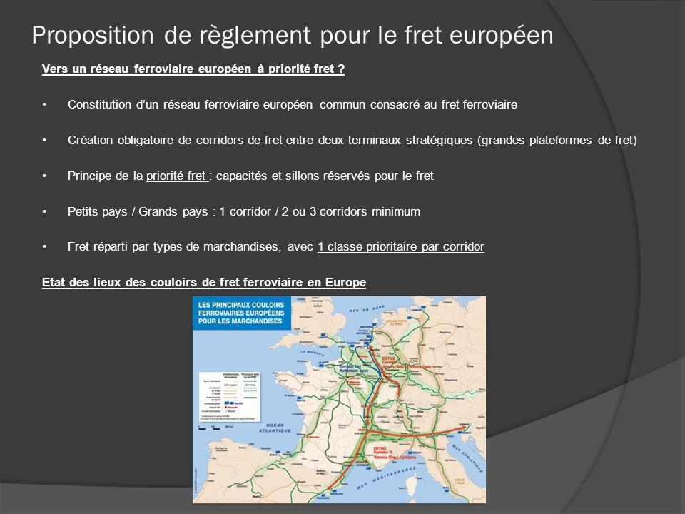 Proposition de règlement pour le fret européen