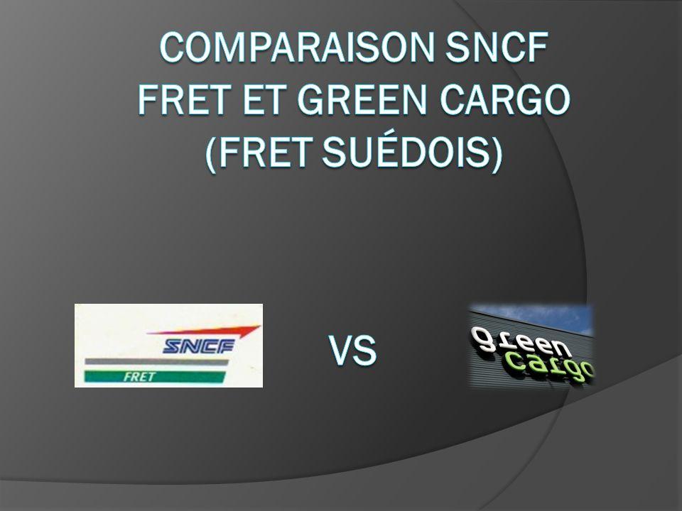 Comparaison SNCF fret et Green Cargo (fret suédois)