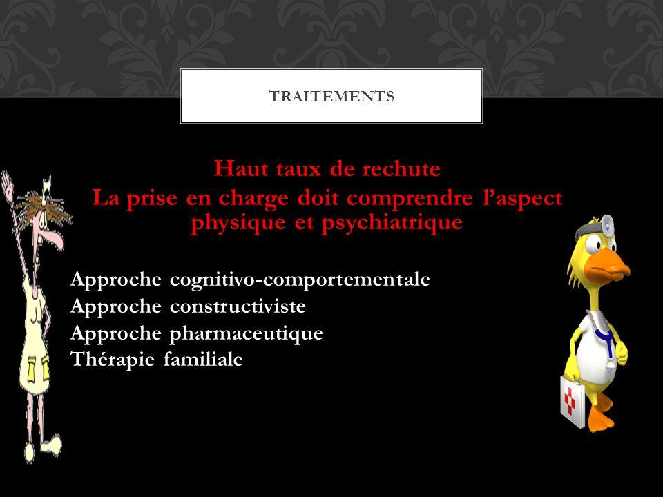 La prise en charge doit comprendre l'aspect physique et psychiatrique