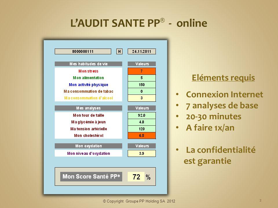 L'AUDIT SANTE PP® - online