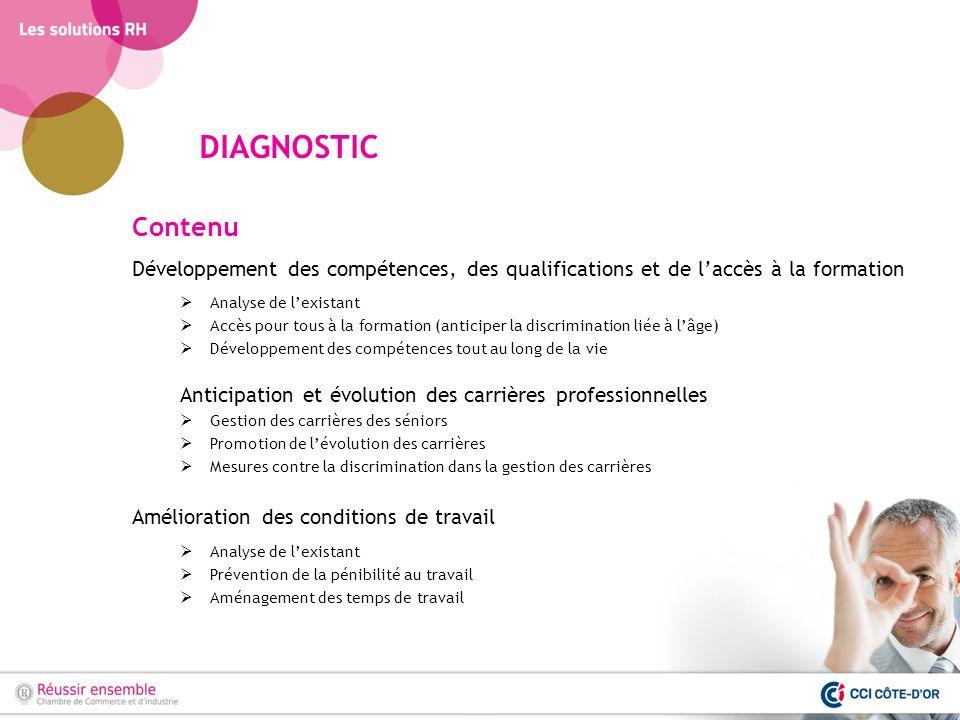 DIAGNOSTIC Contenu. Développement des compétences, des qualifications et de l'accès à la formation.