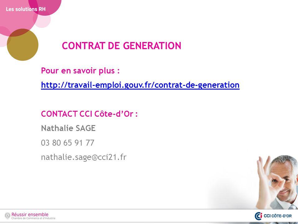 CONTRAT DE GENERATION