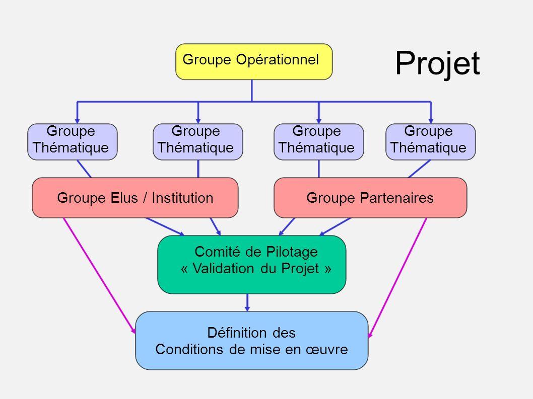 Projet Groupe Opérationnel Groupe Thématique Groupe Thématique