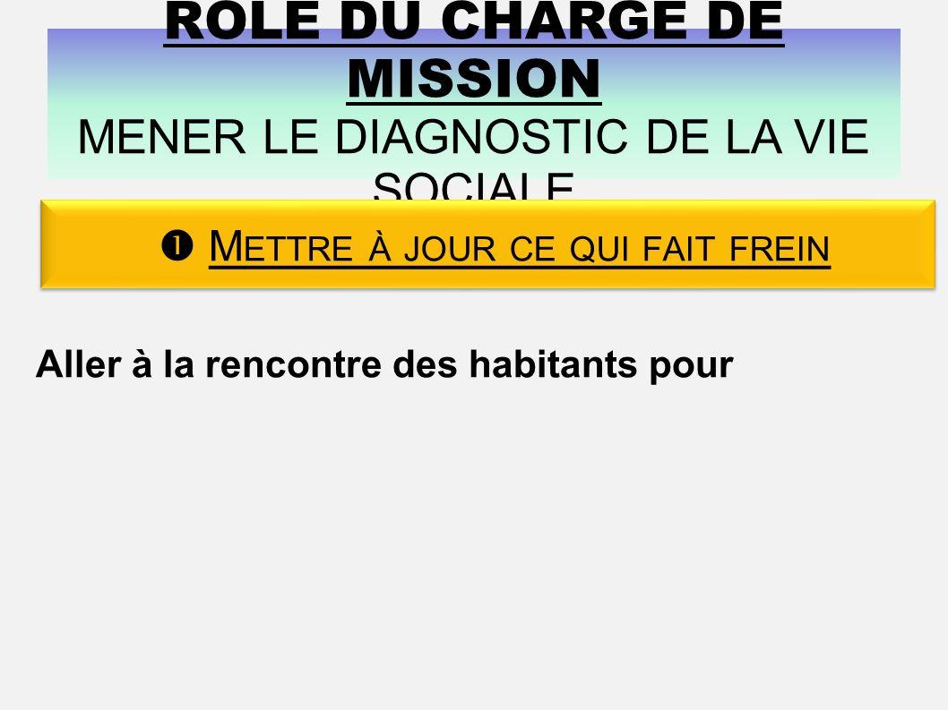 RÔLE DU CHARGÉ DE MISSION