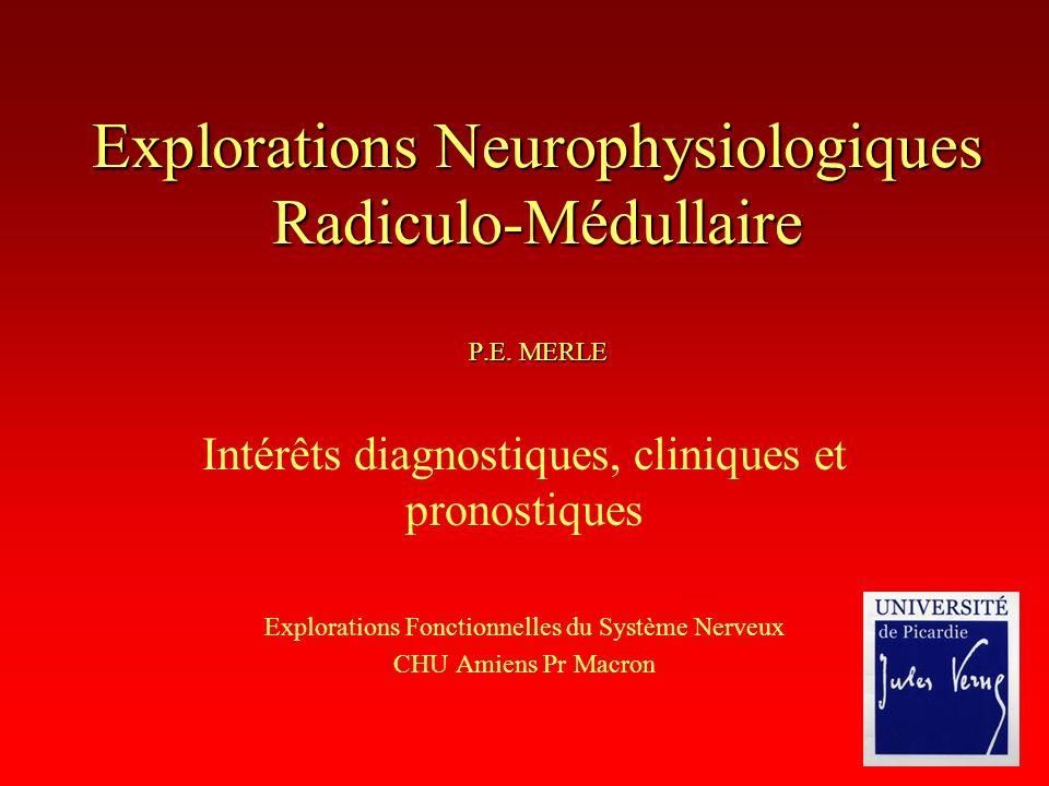 Explorations Neurophysiologiques Radiculo-Médullaire P.E. MERLE
