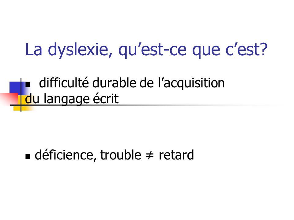 La dyslexie, qu'est-ce que c'est