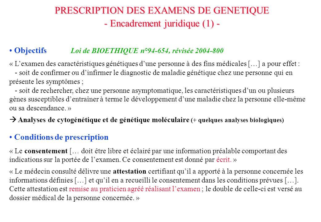 Objectifs Loi de BIOETHIQUE n°94-654, révisée 2004-800