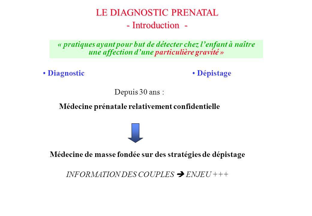 Médecine prénatale relativement confidentielle