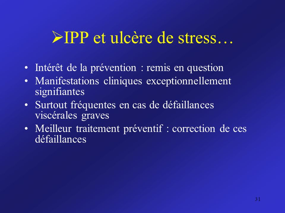 IPP et ulcère de stress…