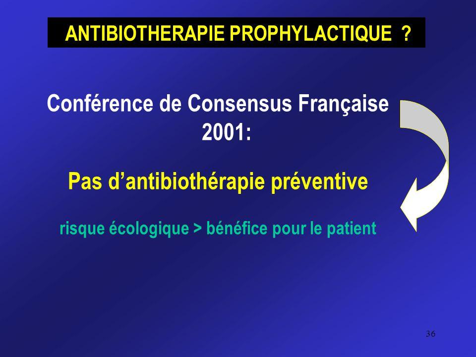 Conférence de Consensus Française 2001: