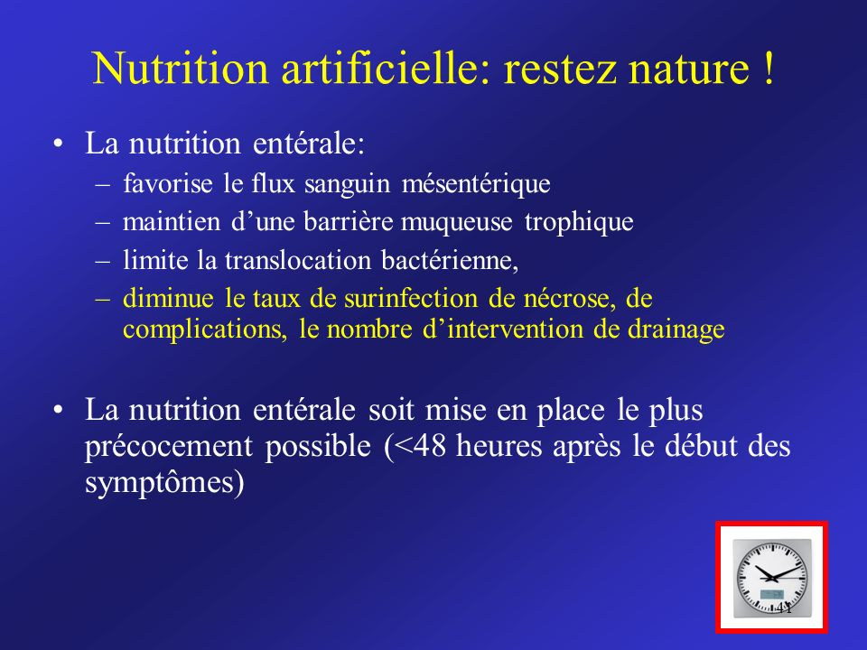 Nutrition artificielle: restez nature !