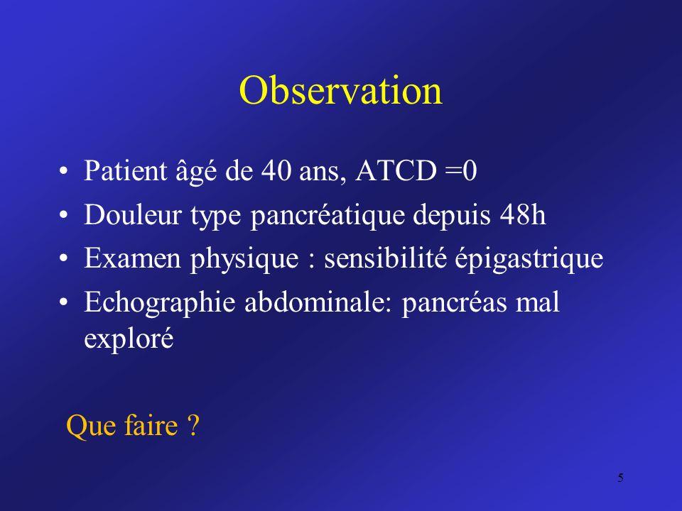 Observation Patient âgé de 40 ans, ATCD =0