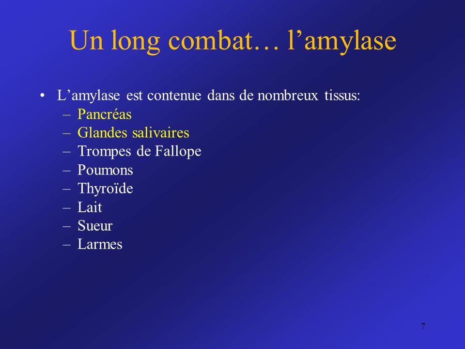 Un long combat… l'amylase