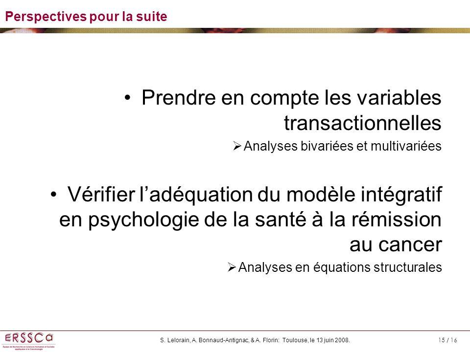 Prendre en compte les variables transactionnelles