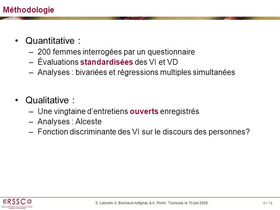 Quantitative : Qualitative : Méthodologie