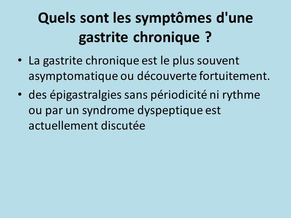 Quels sont les symptômes d une gastrite chronique