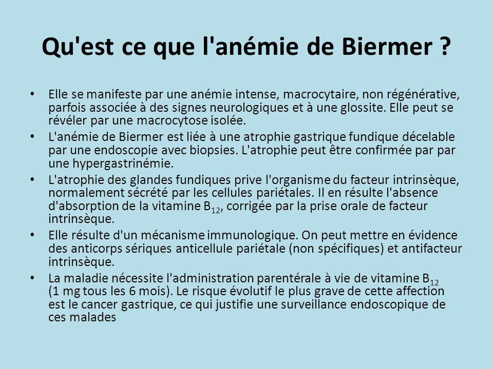 Qu est ce que l anémie de Biermer