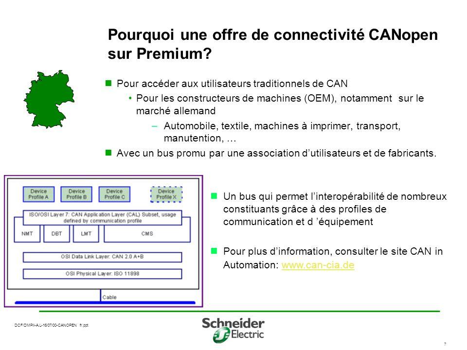 Pourquoi une offre de connectivité CANopen sur Premium