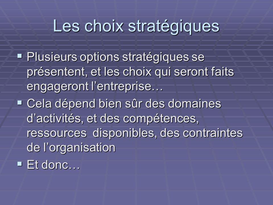 Les choix stratégiques