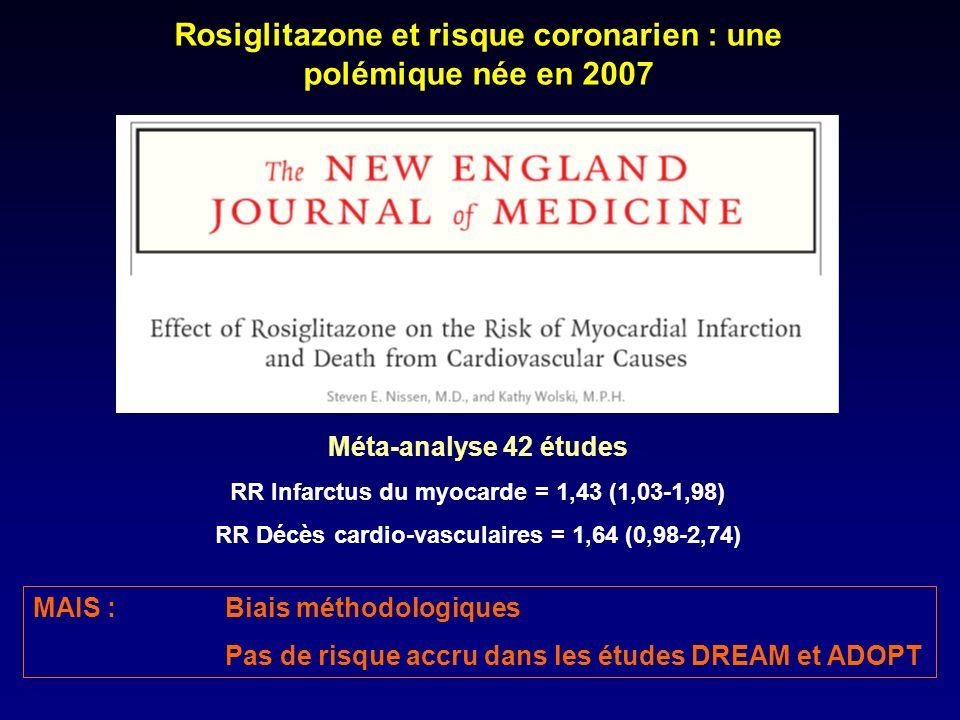 Rosiglitazone et risque coronarien : une polémique née en 2007