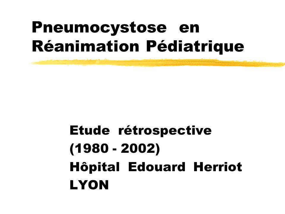 Pneumocystose en Réanimation Pédiatrique