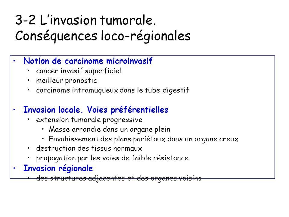 Conséquences loco-régionales