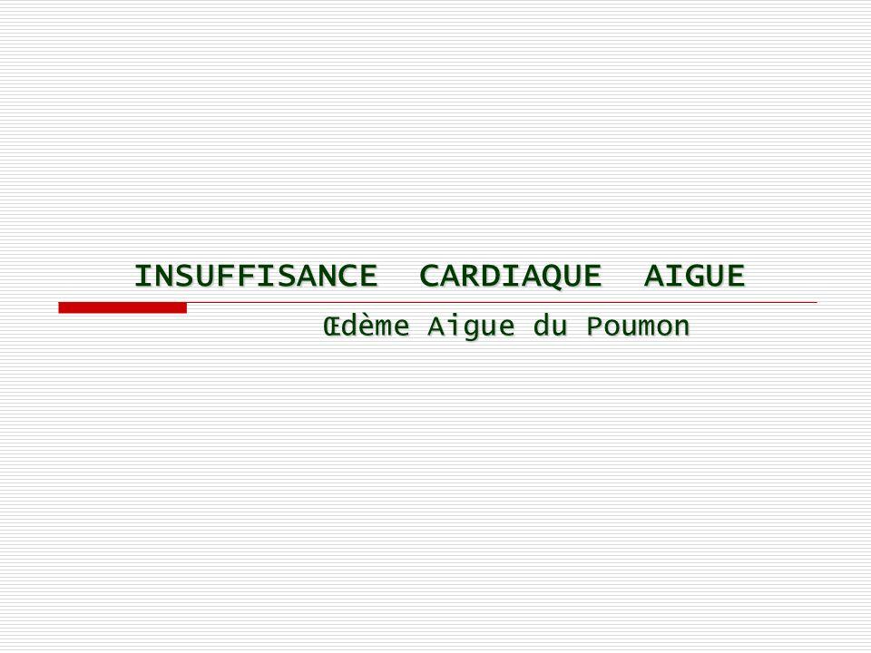 INSUFFISANCE CARDIAQUE AIGUE