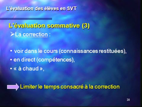 L'évaluation sommative (3)