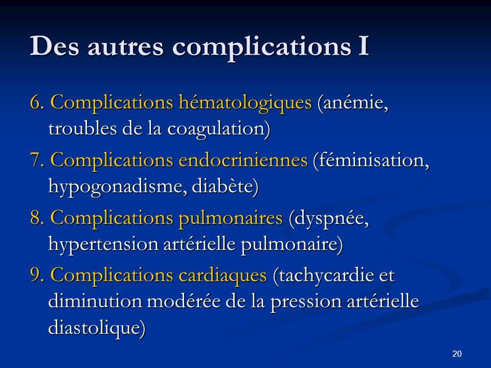 Des autres complications I
