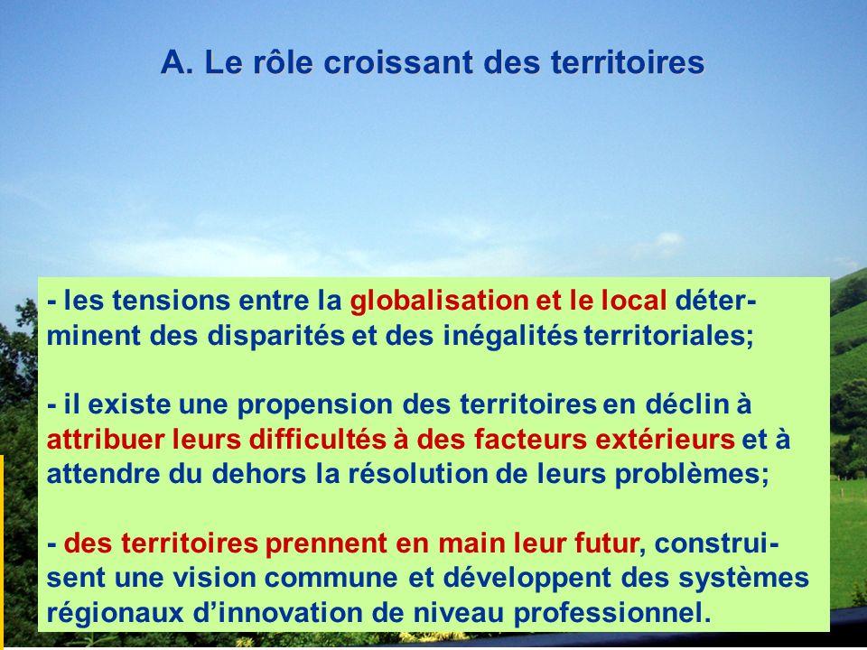 A. Le rôle croissant des territoires