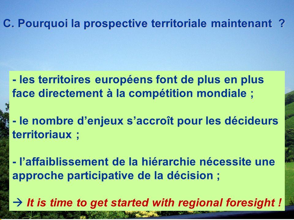 C. Pourquoi la prospective territoriale maintenant