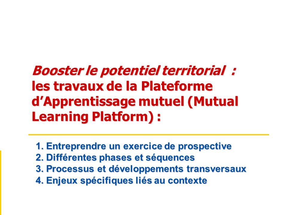 Booster le potentiel territorial :. les travaux de la Plateforme