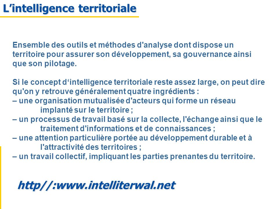 L'intelligence territoriale
