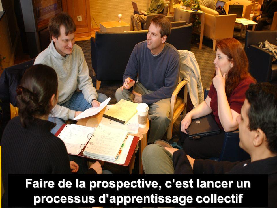 Faire de la prospective, c'est lancer un processus d'apprentissage collectif