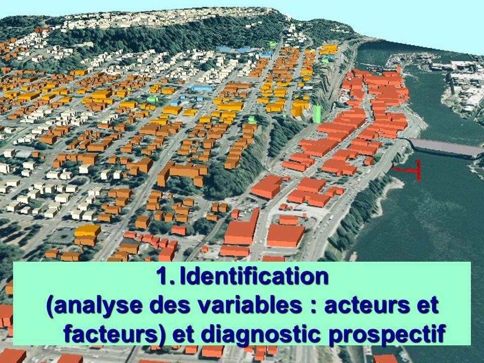 (analyse des variables : acteurs et facteurs) et diagnostic prospectif