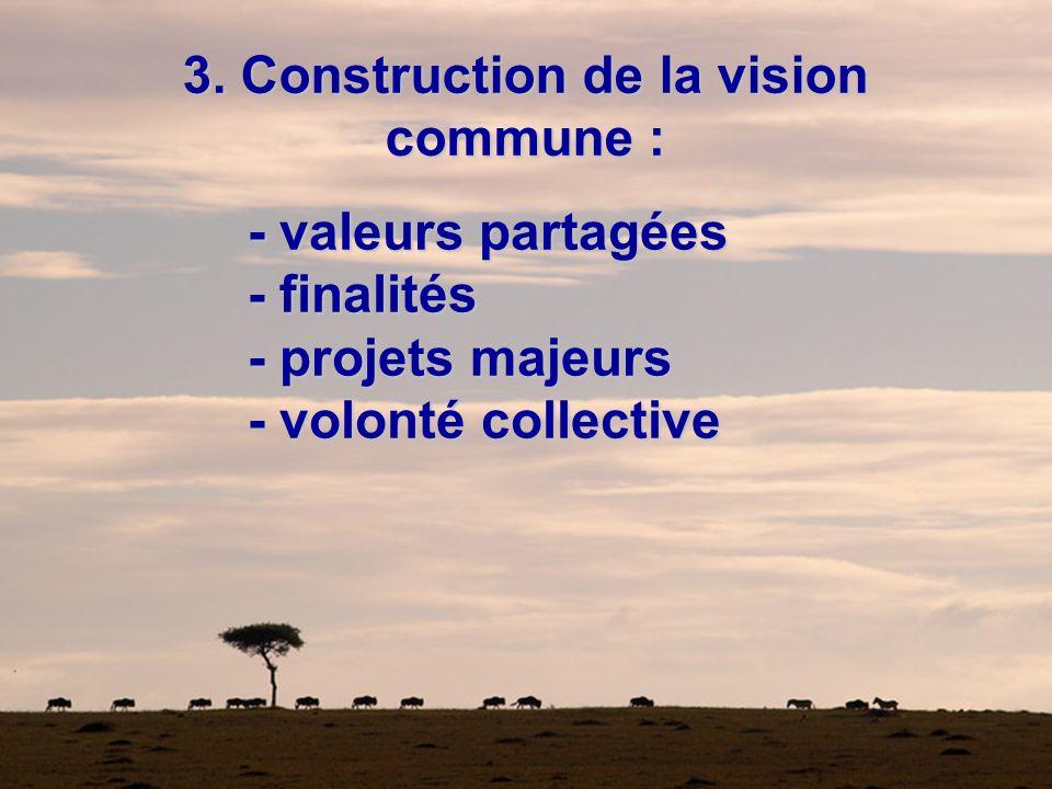 3. Construction de la vision commune :