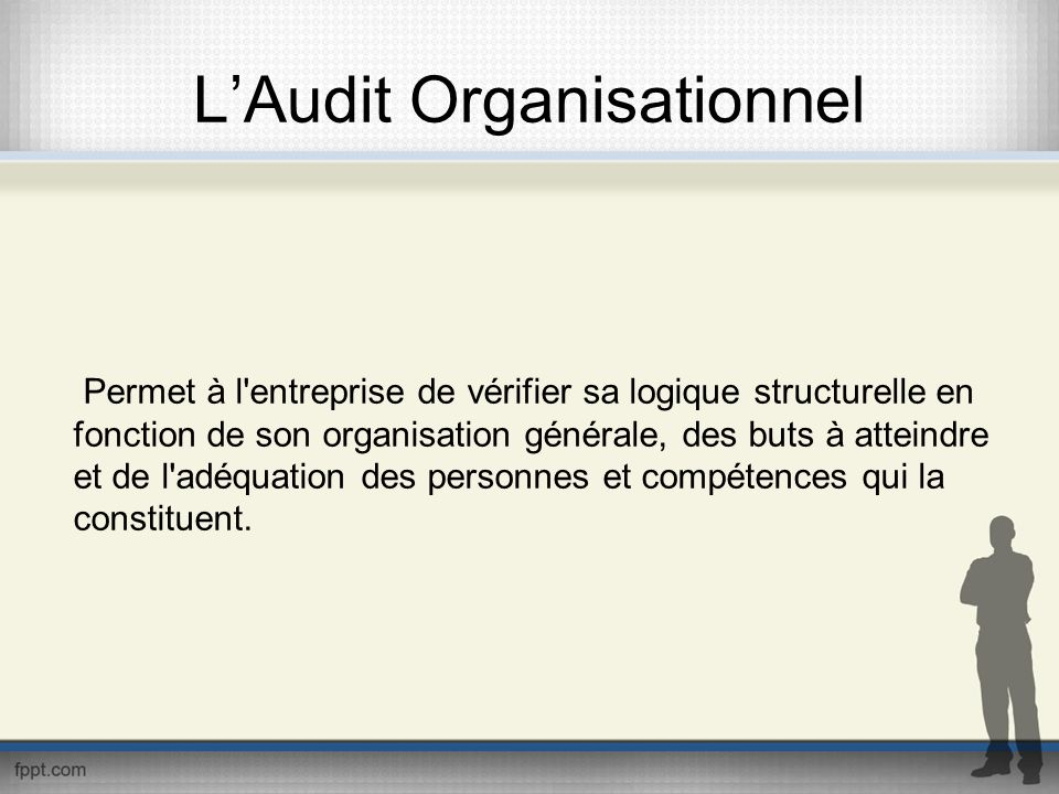 L'Audit Organisationnel