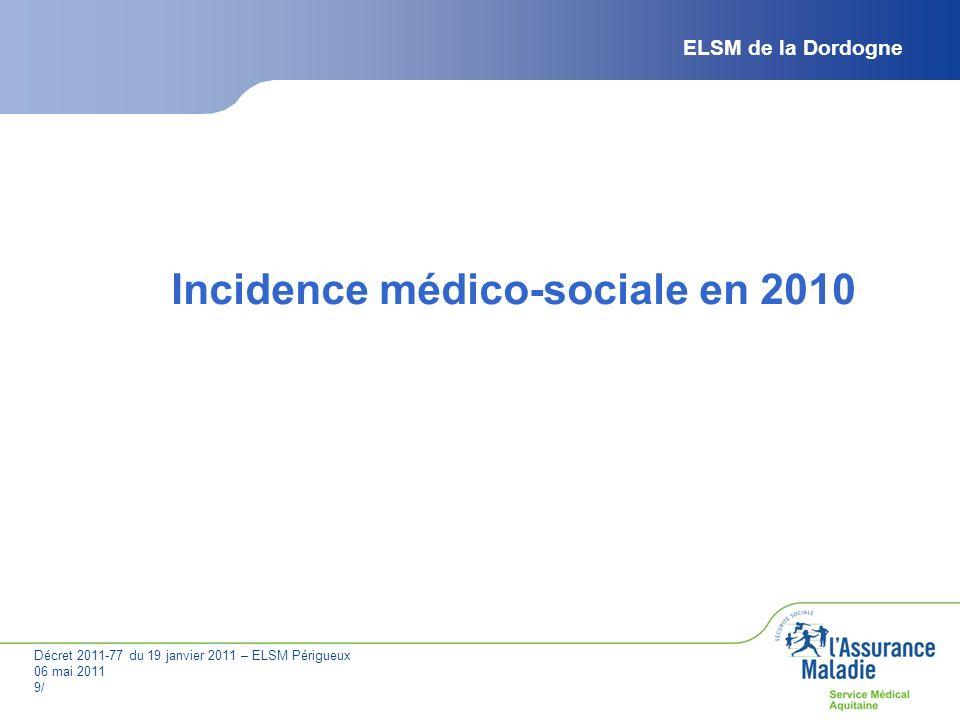 Incidence médico-sociale en 2010