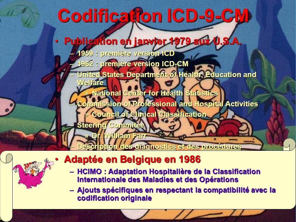 Codification ICD-9-CM Publication en janvier 1979 aux U.S.A.
