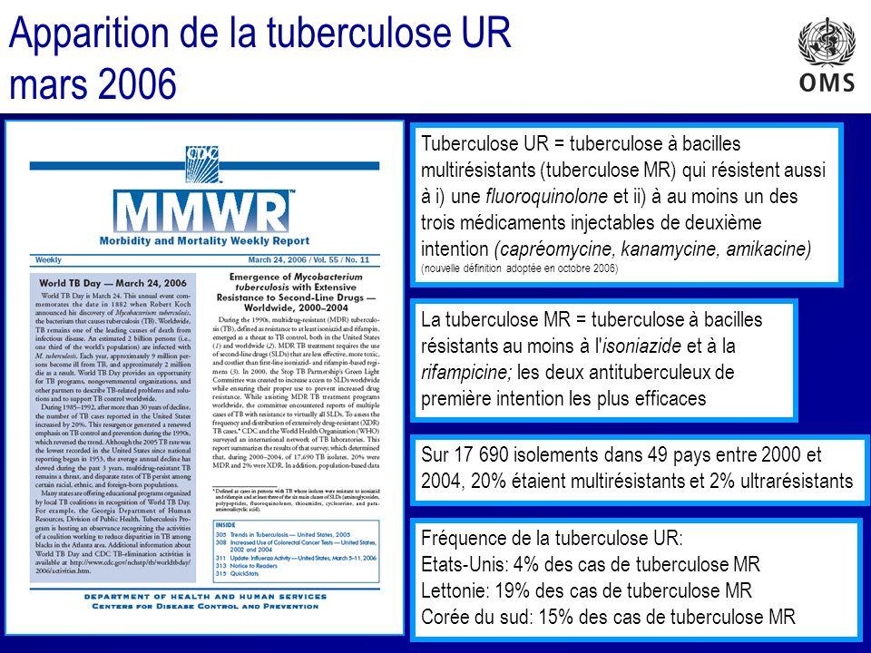 Apparition de la tuberculose UR mars 2006