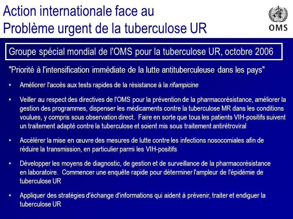 Action internationale face au Problème urgent de la tuberculose UR