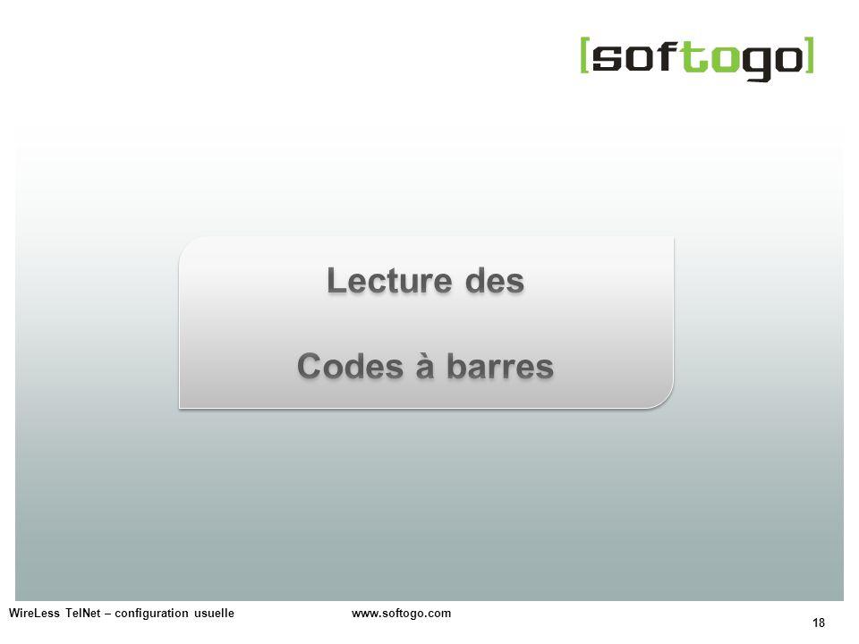 Lecture des Codes à barres