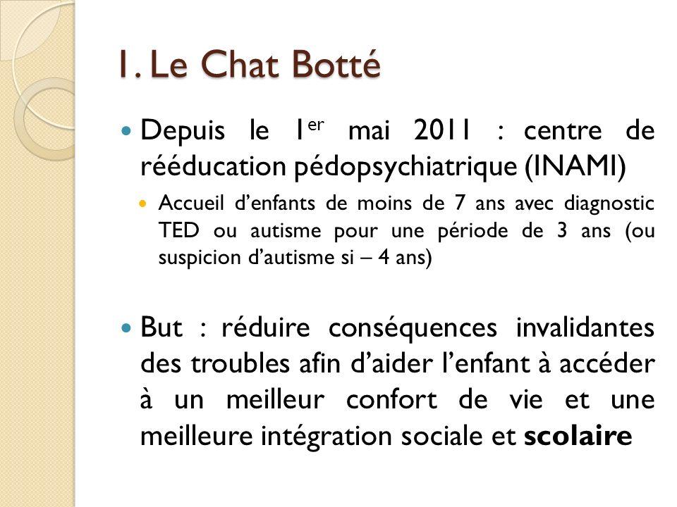 1. Le Chat BottéDepuis le 1er mai 2011 : centre de rééducation pédopsychiatrique (INAMI)